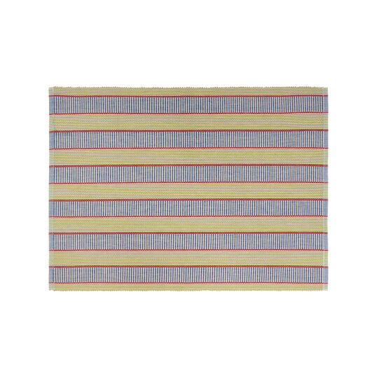 100% cotton table mat with striped pattern