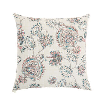 Cushion with paisley print and tassels