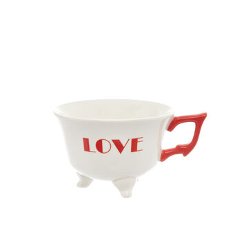 Tazza da colazione Love in stoneware