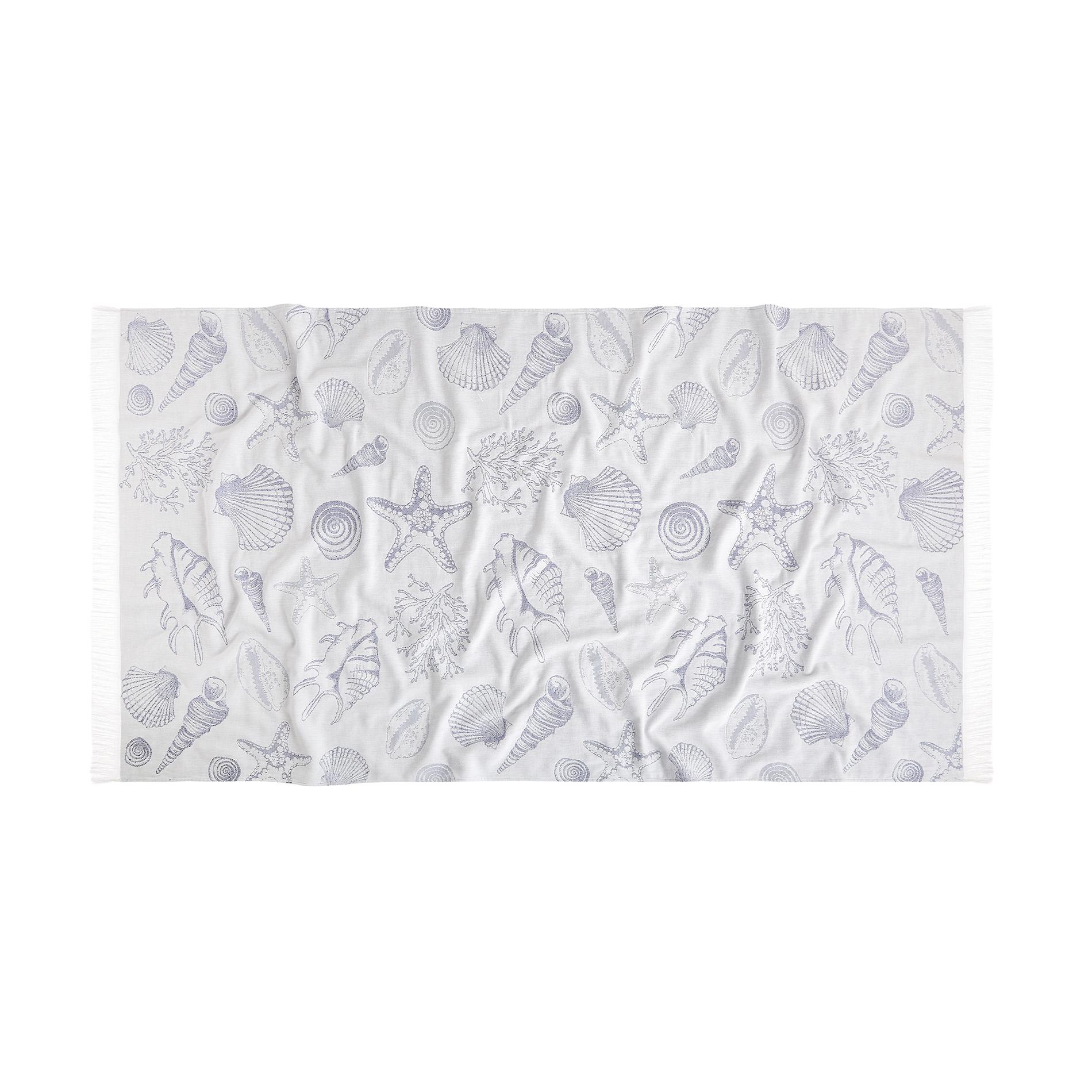 Hammam Style: 100% Cotton Hammam-style Shell Beach Towel