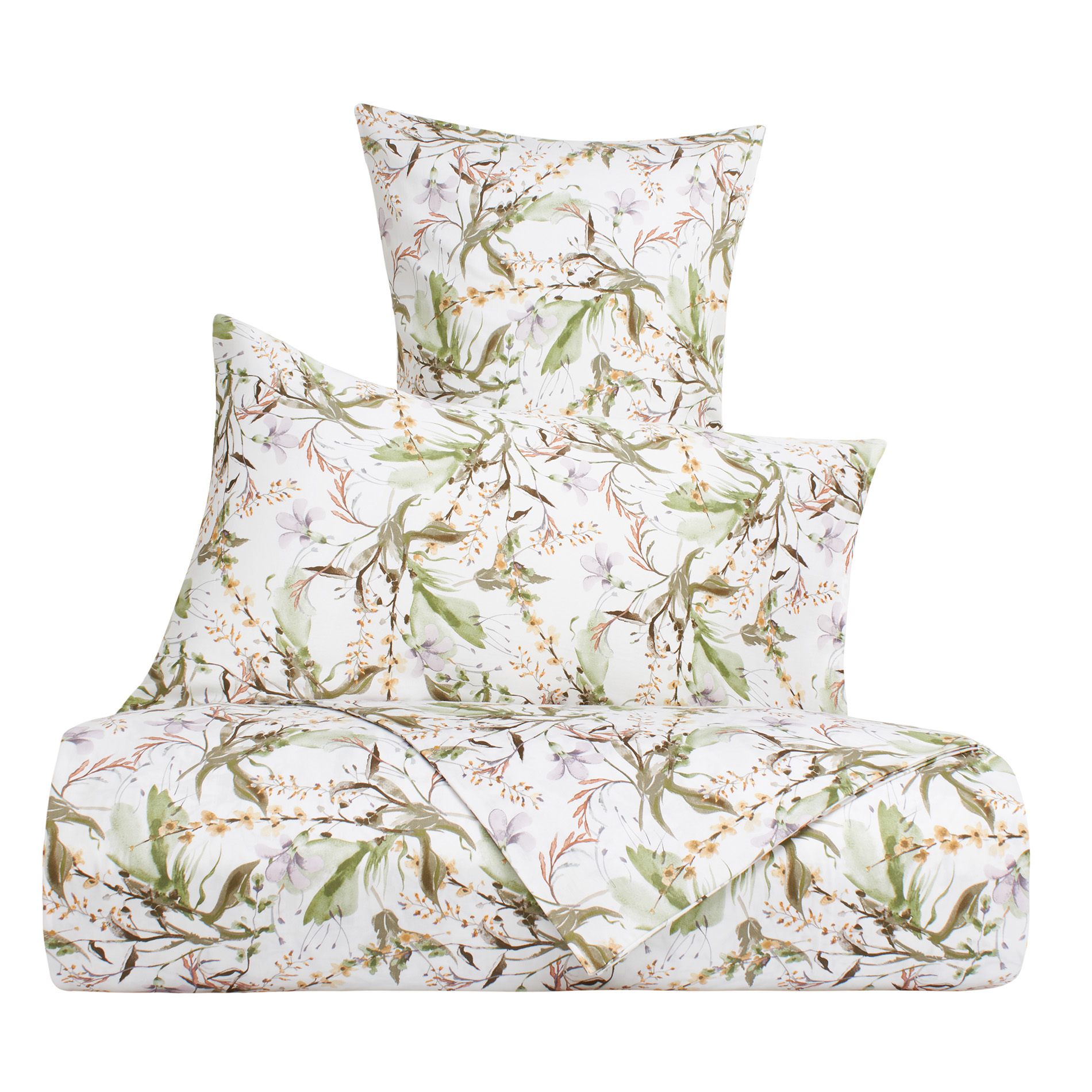 Copripiumino Coin.Cotton Satin Duvet Cover Set With Flowers Pattern Coincasa