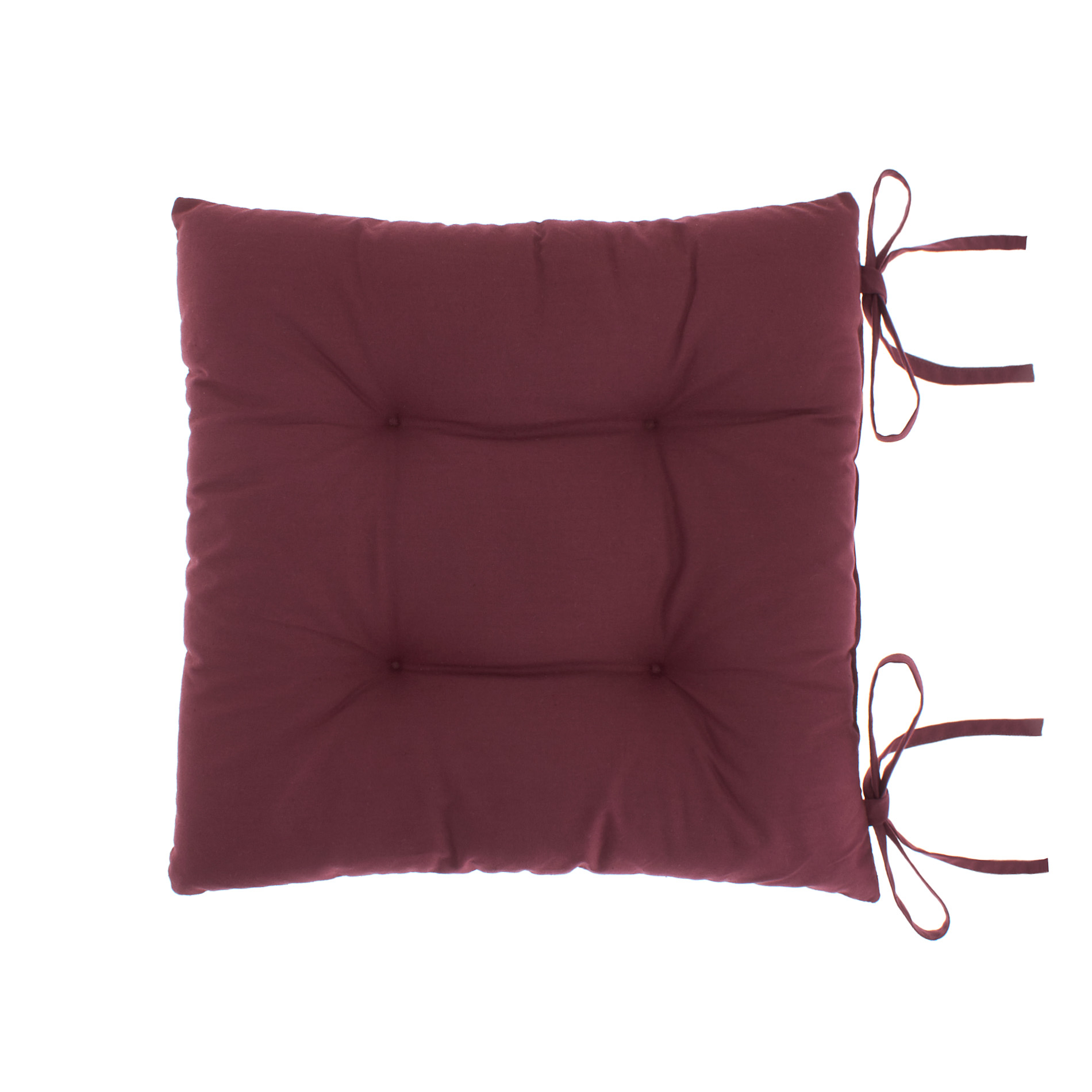 Cuscino da sedia puro cotone tinta unita coincasa