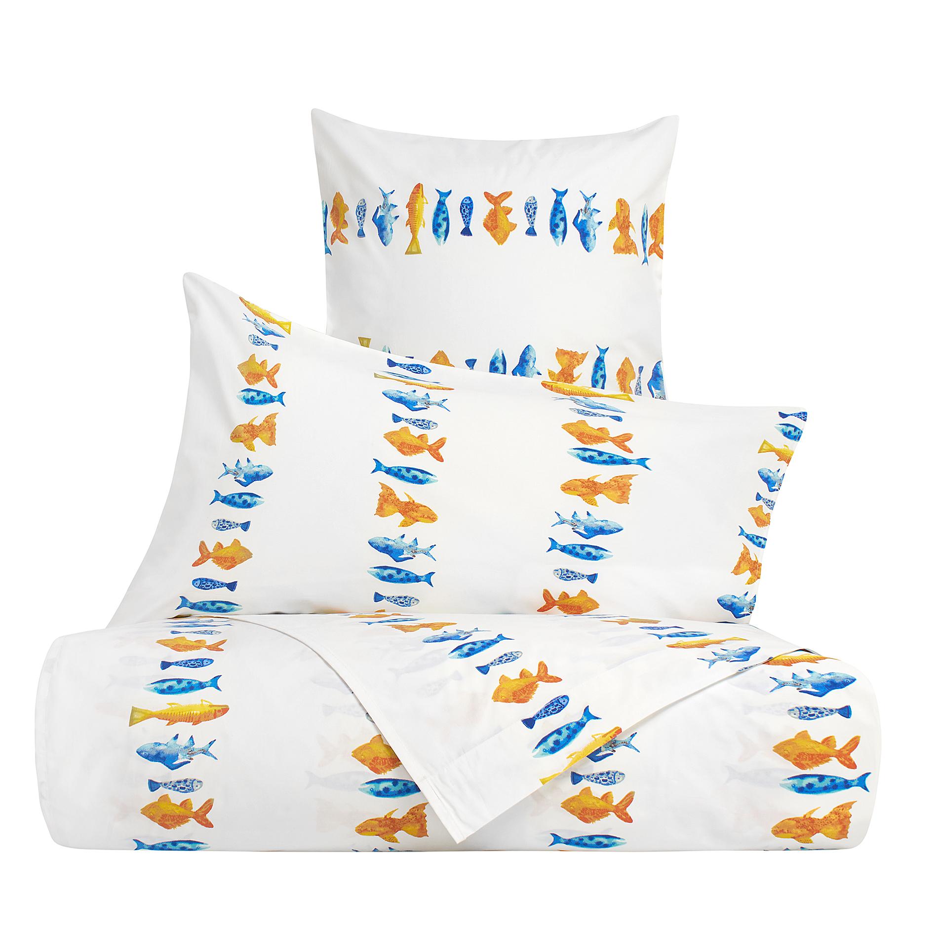 Linea letto in cotone percalle pesci coincasa - Tende coin casa ...