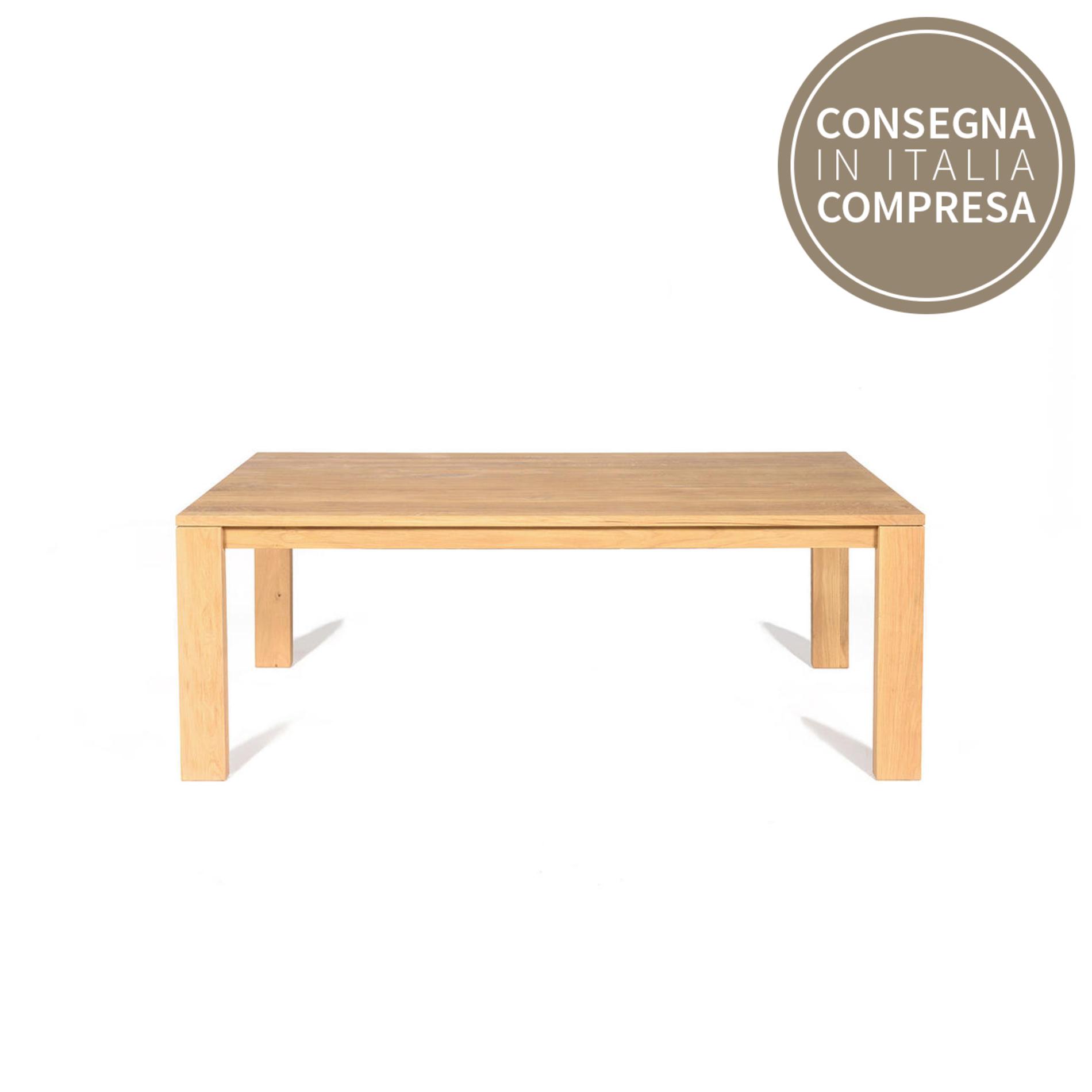 Cargo oak emotion dining table coincasa for Coin tavoli