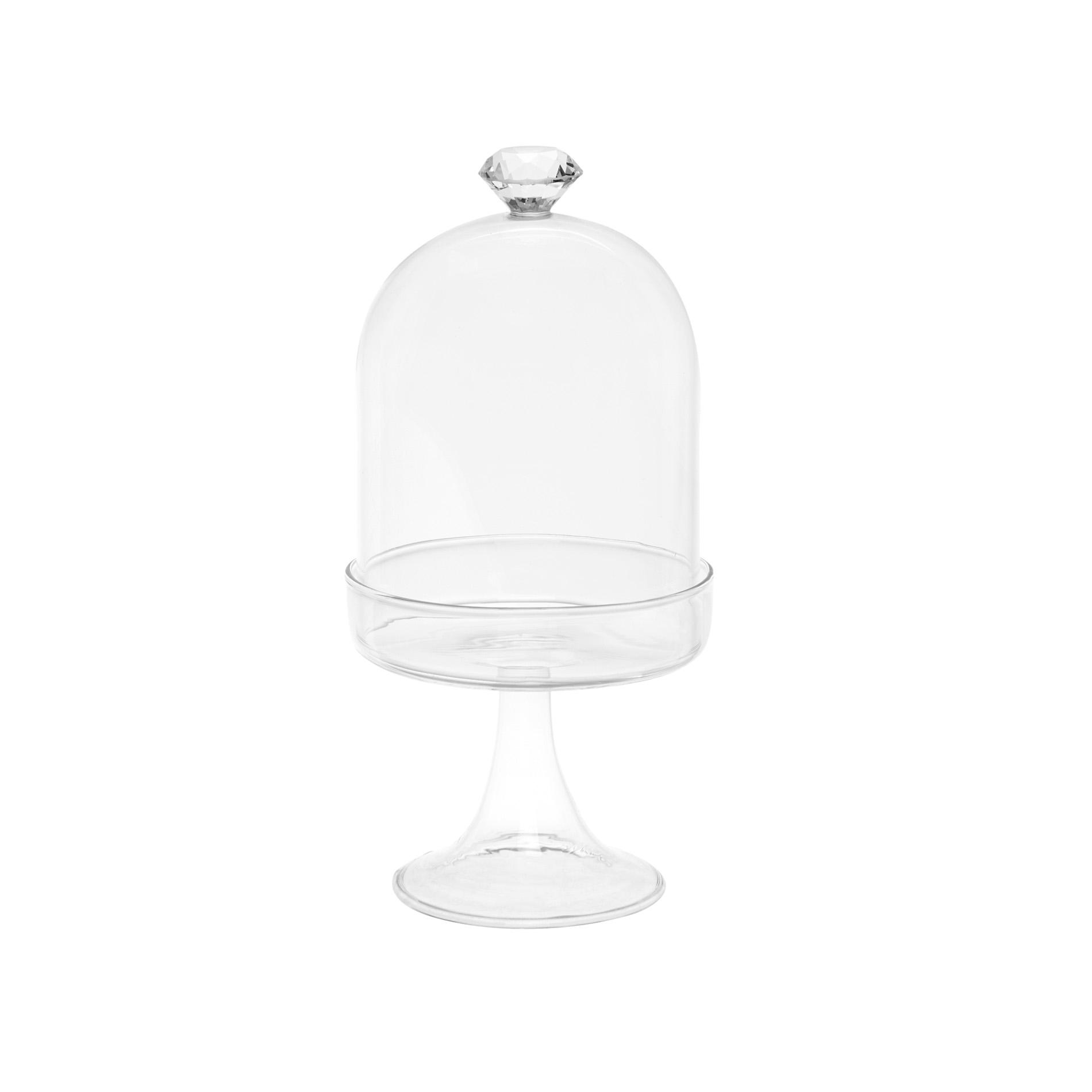 Alzatina vetro con diamante - coincasa