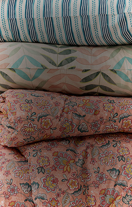 DELICATE DESIGNS AND SOFT,WASHED ORGANIC COTTON