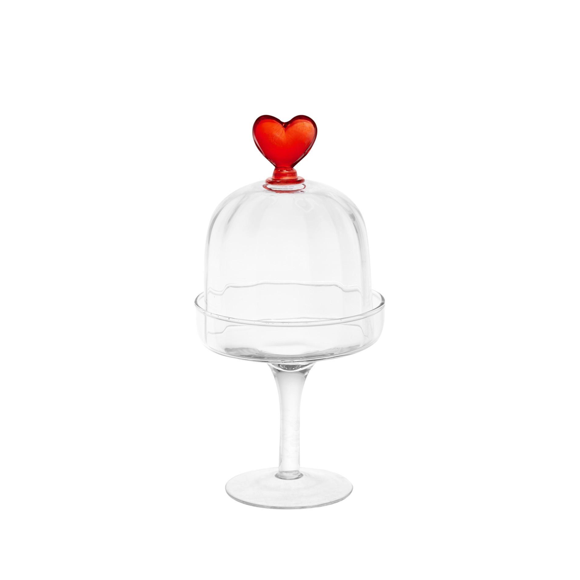 Alzatina in vetro dettaglio cuore - coincasa