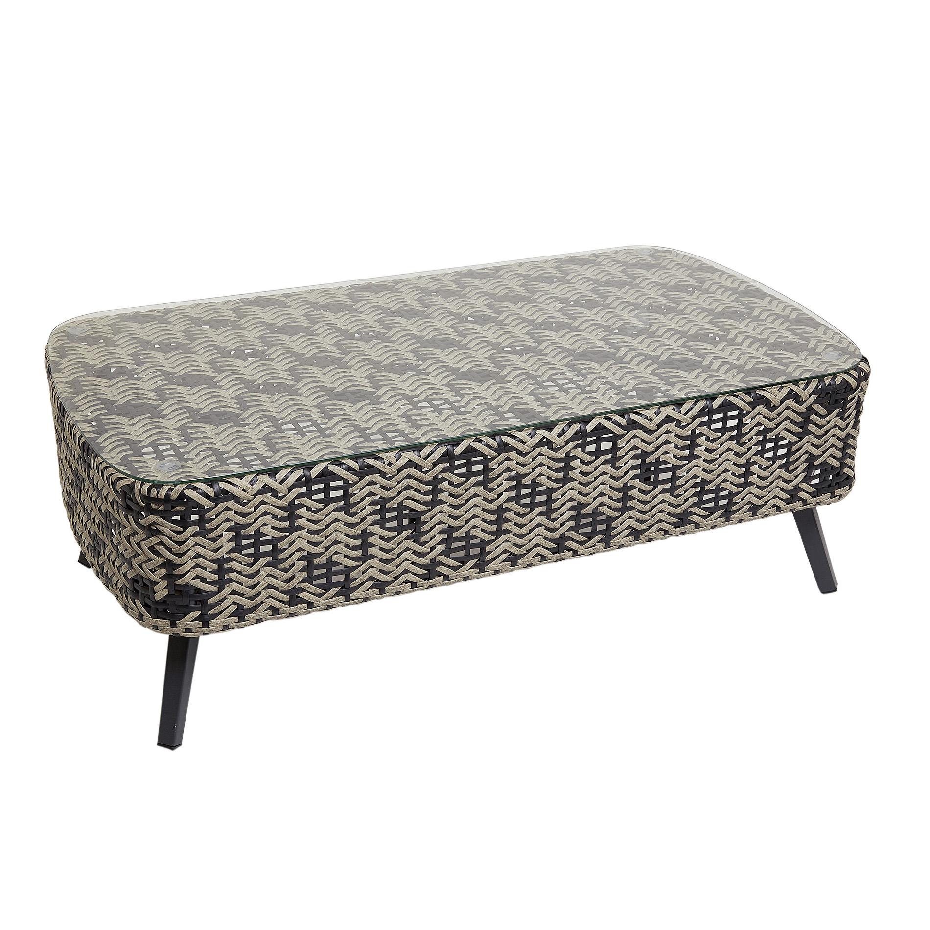 Marrakesh coffee table in polyrattan and aluminium - coincasa